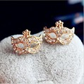 Full Rhinestones Magic Mask Stud Earrings Stylish Earrings  4ED23