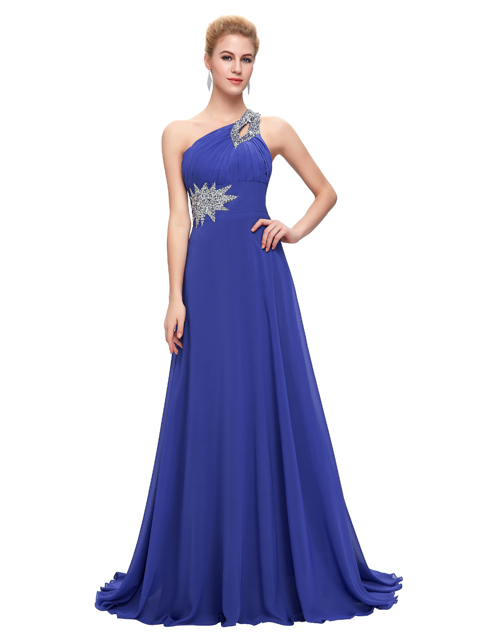 Elegant One Shoulder Long Bridesmaid Dress 5