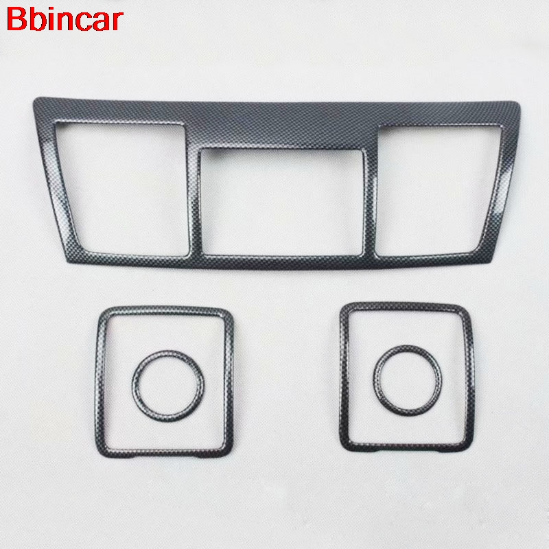 Bbincar Carbon Fiber Special Paint For Toyota Highlander 2009 to 2013 Inner Dashboard Middle Air Vent Cover Interior Styling