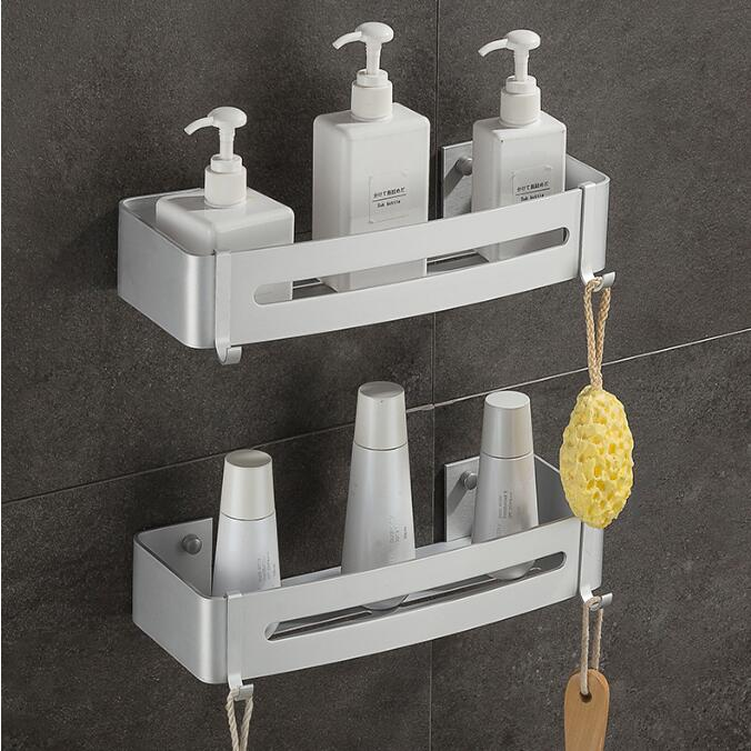 Alloy Wall Mounted Soap Dish Holder Basket Tray Bathroom Bath Shower A