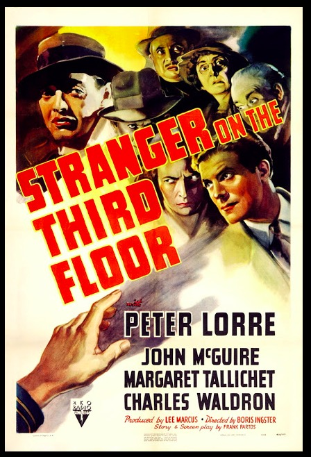 Stranger on the Third Floor Classic Movie Film Noir Retro Vintage Poster Canvas Painting DIY Wall Paper Home Decor Gift image