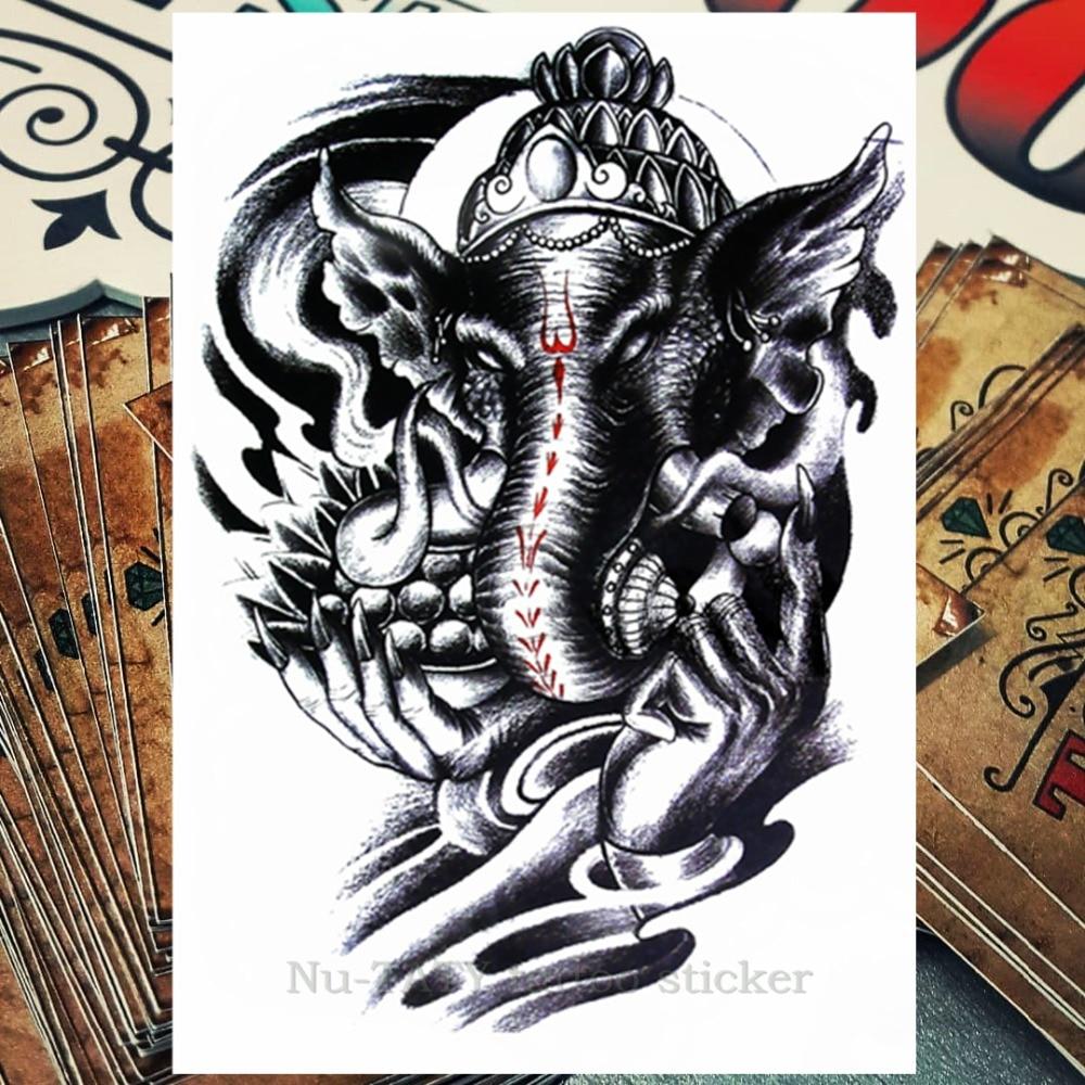 Nu taty gajah india god sementara tato badan seni blitz tato stiker 2115 cm anti air tato gaya dekorasi rumah di sementara tato dari kecantikan kesehatan