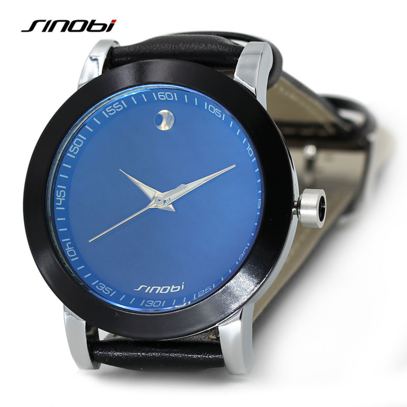 SINOBI font b Men b font Fashion Wrist font b Watches b font Luxury Brand Leather