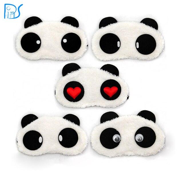 Панда спальные маска для глаз Nap тени мультфильм с завязанными глазами сна глаза крышка Спящая Путешествия Rest Patch Блиндер