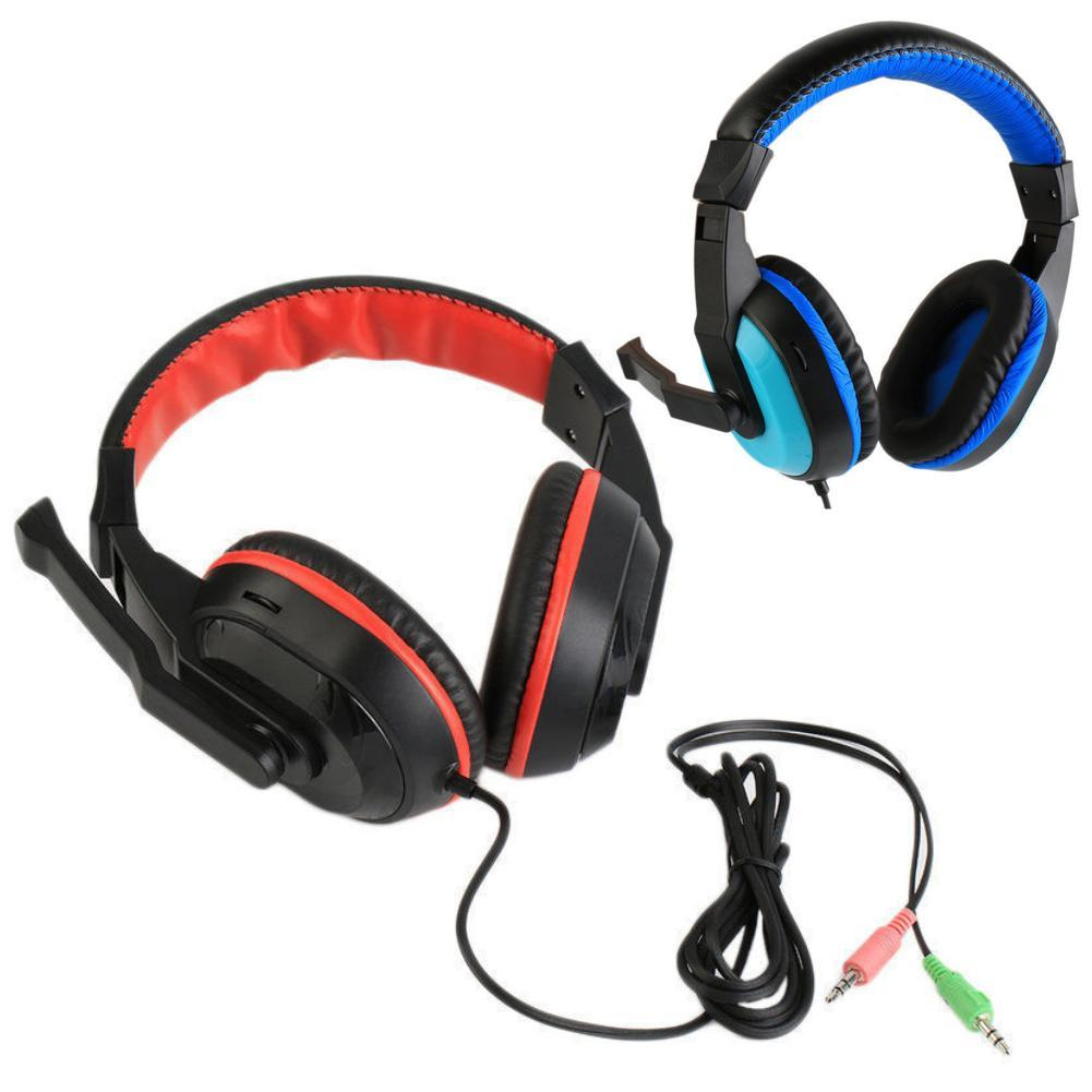 3.5 mm Wired Headphone Over Ear Headset HiFi Sound Music Stereo Earphone Gaming Headphone For Laptop Desktop Game Drop Shipping ovann x17 gaming stereo bass headset headphone earphone over ear 3 5mm