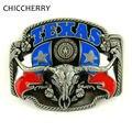 Cool texas toro cabeza grande de metal cinturón hebilla occidental del país vaquero Fivela Roca Accesorios Masculinos Boucle de Ceinture De Los Hombres de La Cadera cinturones