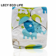super soft minky printed baby one size pocket diaper with double leg