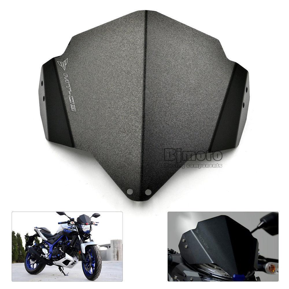 Black Windshield WindScreen Double Bubble For Yamaha MT-03 2017