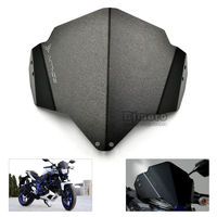 Aluminum Windshield Windscreens for Yamaha MT03 MT 03 2015 2016 2017 Black Wind Screen Shield Deflector Motorbike Accessories|Windscreens & Wind Deflectors|Automobiles & Motorcycles -