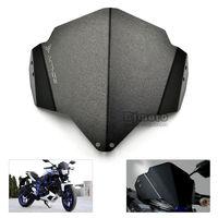 Aluminum Windshield Windscreens for Yamaha MT03 MT 03 2015 2016 2017 Black Wind Screen Shield Deflector Motorbike Accessories|Windscreens & Wind Deflectors|Automobiles & Motorcycles -