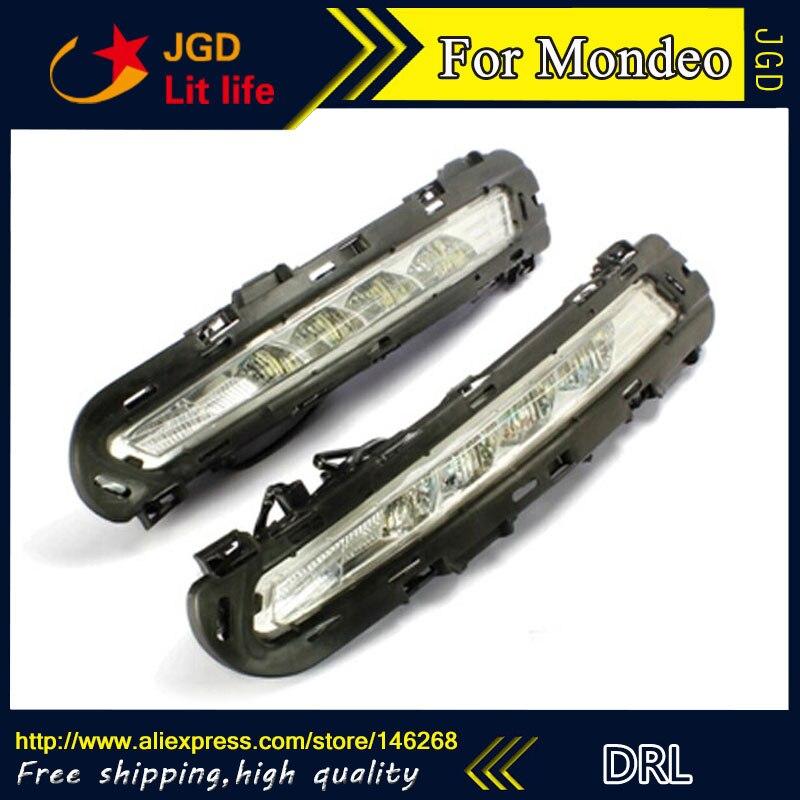 Бесплатная доставка ! 12В 6000K СИД DRL дневного света для Форд Мондео 2010-2012 противотуманная фара