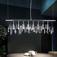 Free Shipping Modern Pendant Lamp Led Metal Chrome Crystal Pendant Light Led For Dinning Living Room