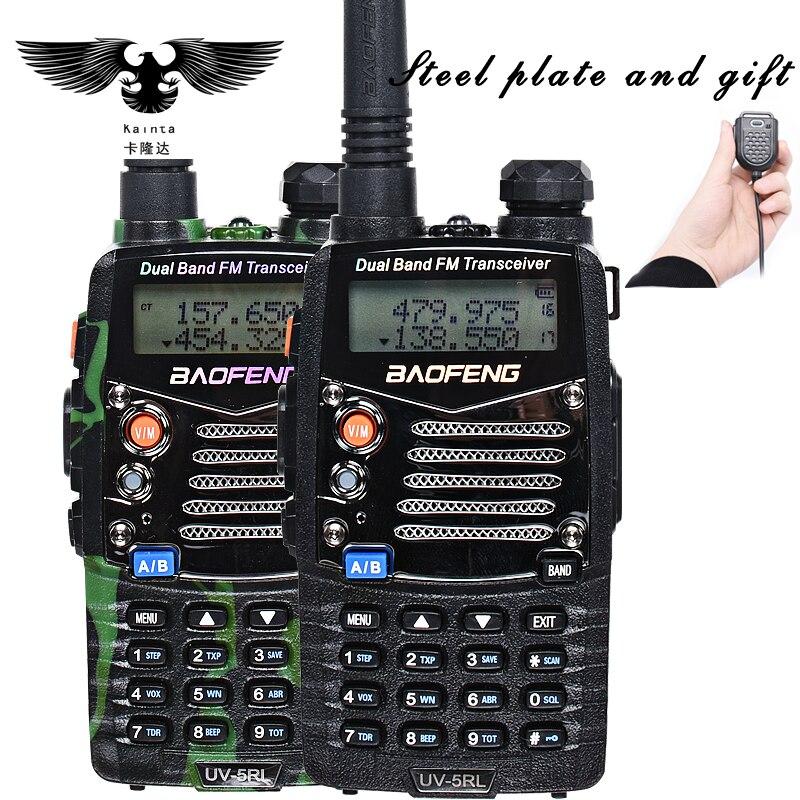 bilder für BAOFENG UV 5RL Verbesserte Version Walkie Talkie Dual Band CB Radio Taschenlampe Dual Display FM Transceiver Mit PIN PTT Lautsprecher Mic