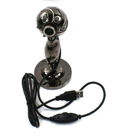 usb webcam 2.0 usb webcam with 6 led light    50pcs/lot FUSB-09