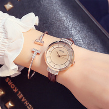 Brown Quartz Wrist Watches for Women Luxury Watch Designer Brand White Gifts Ladies Dropshipping New 2019 Hot Selling