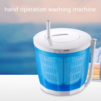 Hand operated Manual Semi automatic Clothes Washing Machine Hostels Mini Washer for Restaurant Vegetables Fruit Camping Cleaning
