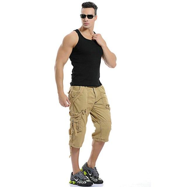 Хорошее качество 2017 мужчин повседневная военные тактические грузовые шорты случайные пляж костюм летние мужчины короткие брюки 5 Цветов