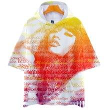 LUCKYFRIDAYF Nicki Minaj 3D Pop Short Sleeve Hoodie Women Soft Fashion Autumn Warm Hip Hop Hoodies Clothes 4XL