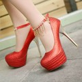 Plus size 34-43 2015 New Fashion Sexy Red Bottoms sole Platform Stiletto High Heels Wedding Party Dress Shoes Women Pumps P1971