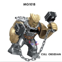 Single Avengers Infinity War Cull Obsidian Thanos with Thor Ant-Man Nebula model building blocks toys for children(China)