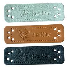 Hand Made Leder Tags Für Kleidung Diy Zubehör Für Geschenk Handwerk Leder Label Für Handgemachte Kleidung Etiketten Mit Baum Logo