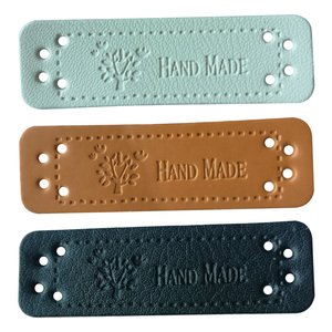 Hand made leather tags for clothing DIY accessories for gift handcraft leather label for handmade clothes labels with tree logo
