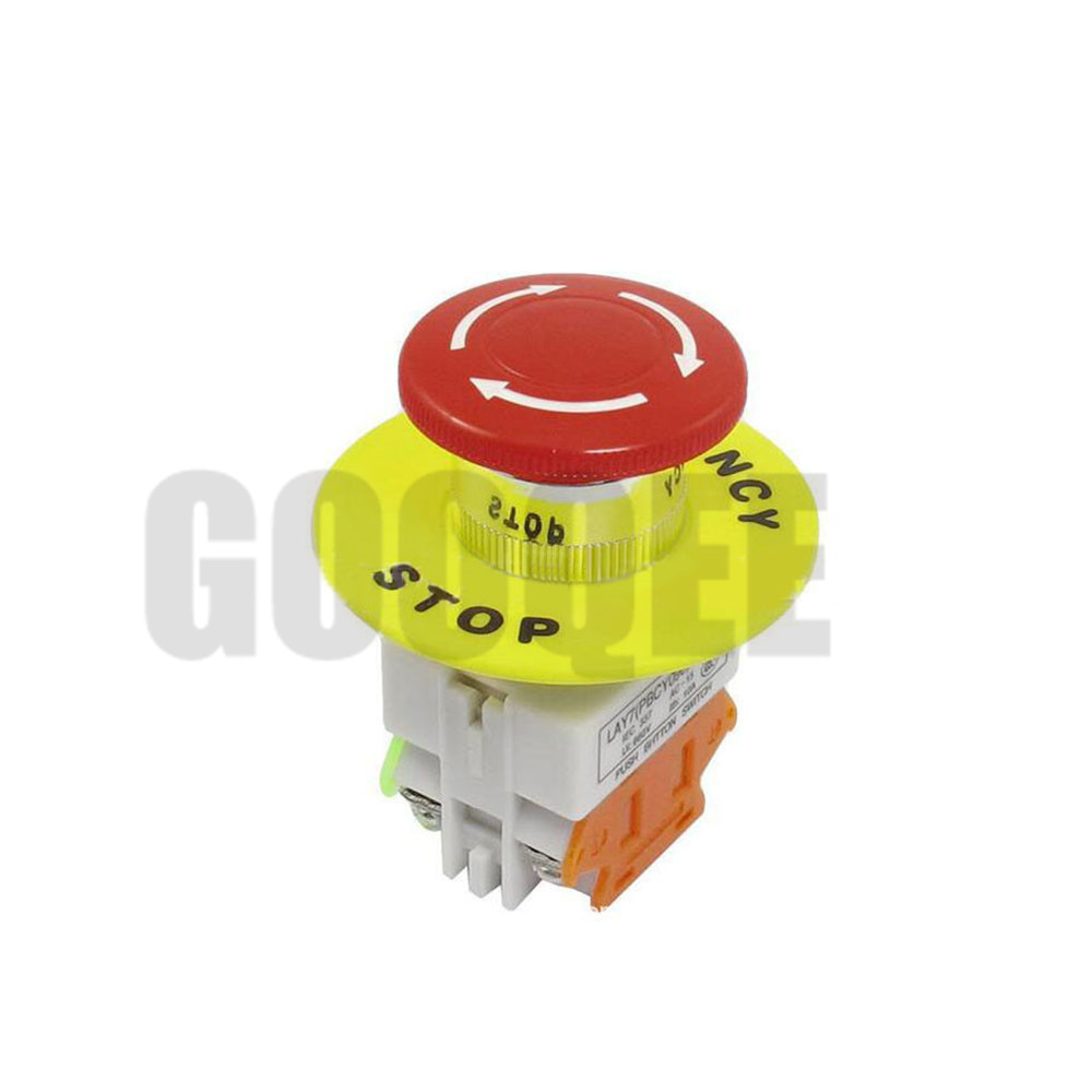 Forceful Red Mushroom Cap 1no 1nc Dpst Emergency Stop Push Button Switch Ac 660v 10a Switch Equipment Lift Elevator Latching Self Lock Lighting Accessories Clothing Sets