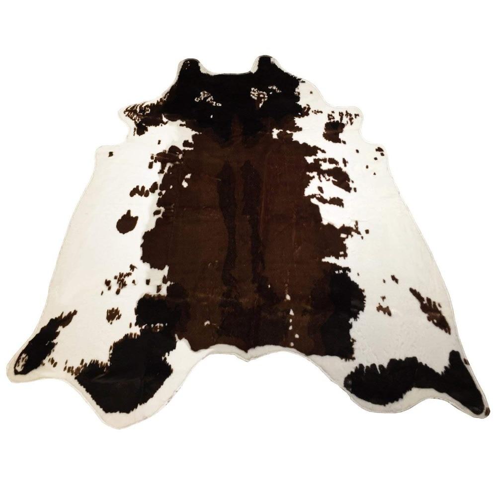 Animal vache impression tapis grande taille Faux peau de vache tapis antidérapant Animal imprimé tapis peau de vache zone tapis pour maison bureau salon
