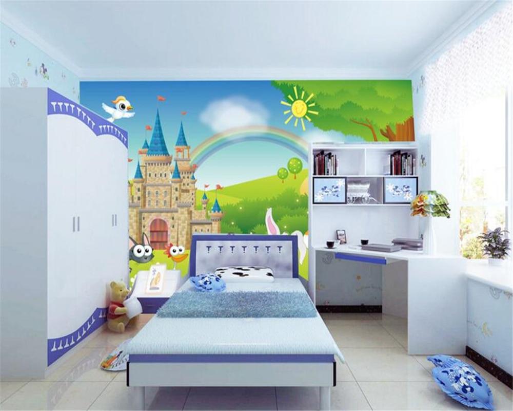 Babykamer Behang Konijn : Beibehang custom kinderkamer achtergrond d behang cartoon