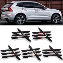 4PCS Car Door Anti collision Bumper Strip Guards Side Protector Sticker for Renault Honda Mugen Nismo Type R Mitsubishi RalliArt