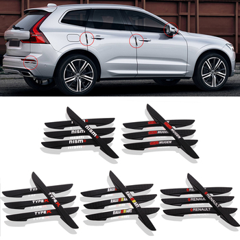 цена на 4PCS Car Door Anti-collision Bumper Strip Guards Side Protector Sticker for Renault Honda Mugen Nismo Type R Mitsubishi RalliArt