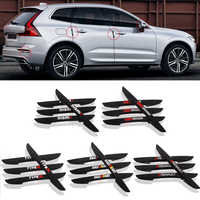 4PCS Car Door Anti-collision Bumper Strip Guards Side Protector Sticker for Renault Honda Mugen Nismo Type R Mitsubishi RalliArt