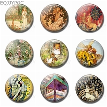 Fairy Tale Cartoon Decorative Refrigerator Magnets Fridge Magnet for Kids Handmade 30 MM Cute Glass Dome Round Magnetic Stickers