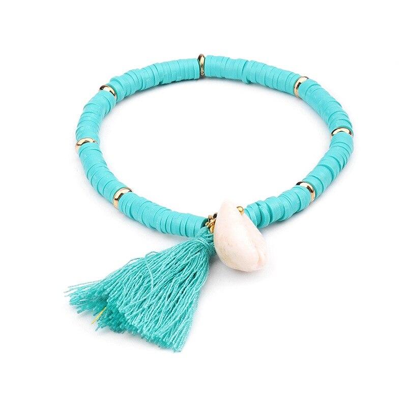 Multicolor Shell Tassel Bracelet 5