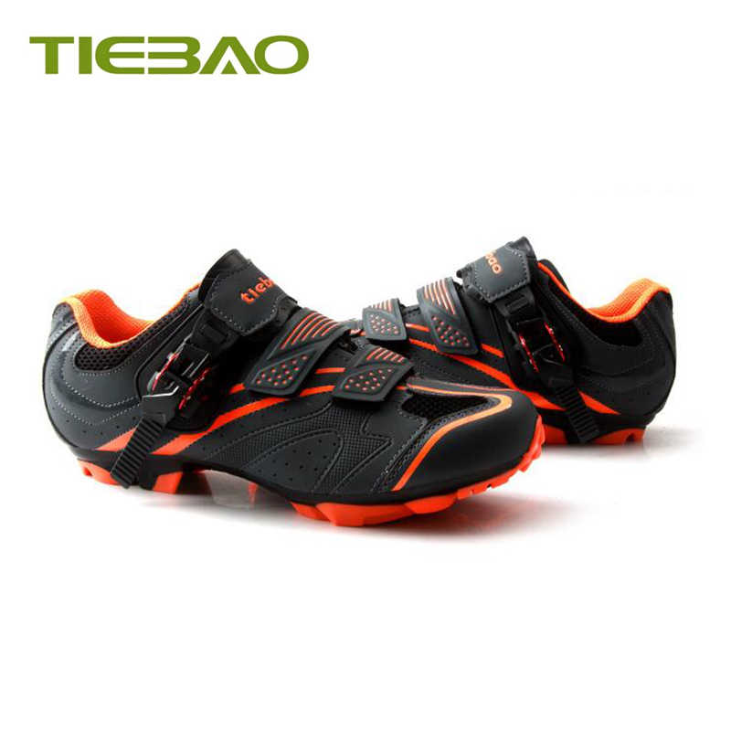 TIEBAO Cycling Shoes Mountain Bike zapatos ciclismo hombre Breathable Self-locking 2019 men women mtb SPD Pedals Riding Sneakers