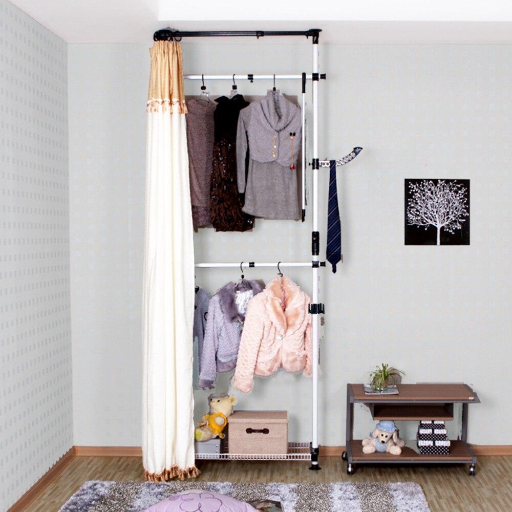 um simples wardrobe closet pano armrio de armrios de ao de montagem e pequeno apartamento roupeiro