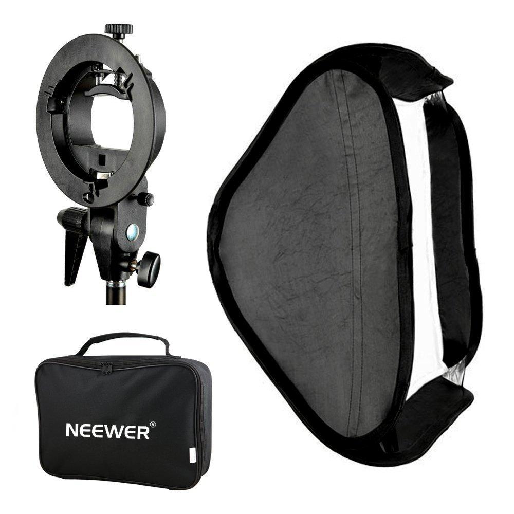 купить Neewer Godox Photo Studio Multifunctional Softbox with S-type Speedlite Flash Bracket Mount+Carrying Case по цене 1778.29 рублей