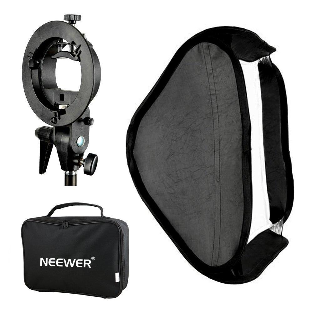 Neewer godox photo studio multifuncional softbox con s-tipo speedlite flash soporte de montaje + estuche