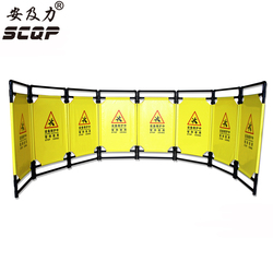 A5 Oxford Plastic Foldable Elevators Maintenance Barrier Custom Safety Traffic Barricade Folding Construction Fence