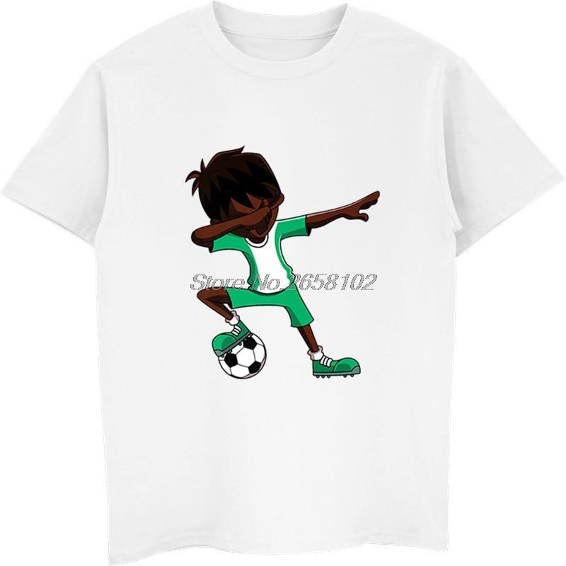 007ab774ff7 New Summer Men 100% Cotton T shirt Cool Dabbing Soccers Boy Jersey Shirt