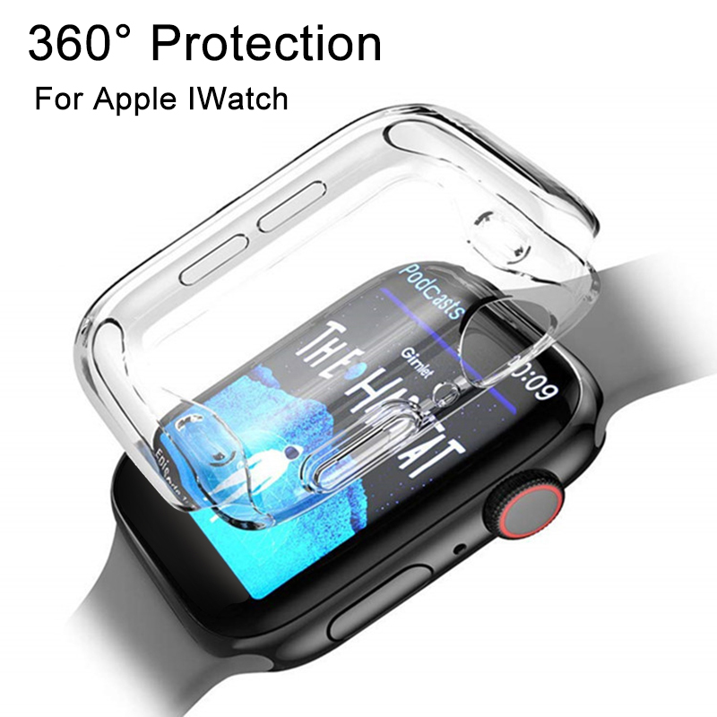360 Protection IWatch Screen Protector for Apple Watch iwatch Band 38mm Case cover i watch bands 42 mm 1 2 3 4 bracelet coque HD car seat