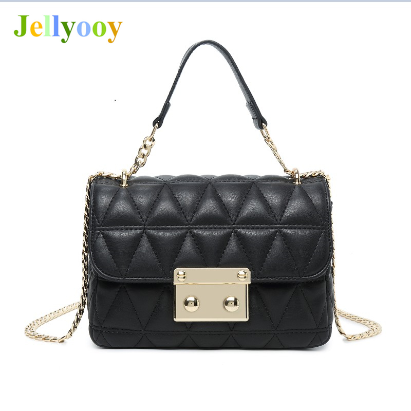 Goddess of Elegance Luxury Sheepskin Handbag Women Chain Plaid Quilted Genuine Leather Women Chain Shoulder Bag Designer Channel chain detail quilted bum bag