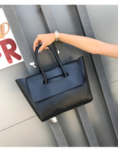 PU Leather Classic Women Tote Bag Flapover Handbag Mochila Mujer Large Capacity Shopping for Girls
