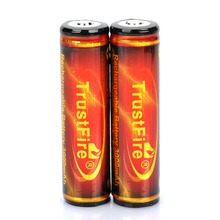 2 PCS/ lot TrustFire Protected 18650 3.7V 3000mAh Rechargeable Li-ion Batteries for Flashlights все цены