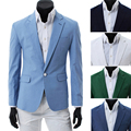 2014 Nuevo Algodón de la Llegada 2014top Hombres de la Marca Slim Fit Blazers Ropa Sombrero traje Chaqueta de Vestir de Negocios de Calidad Superior 5 Colores gratis
