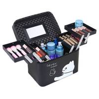 SAFEBET Ms Cute Cosmetic Bag Women Multifunctional Professional Handheld Cosmetic Case Travel Portable Large Capacity Makeup Box