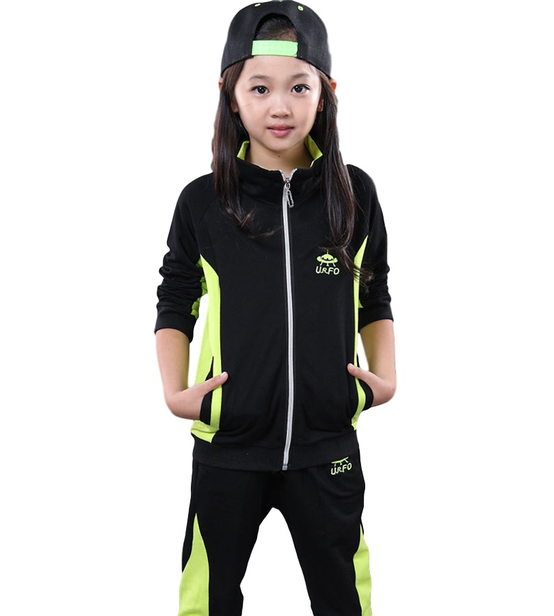 6-13 Years Fashion Kids Clothes Girls Boys Sets 2 pieces top+pant Sport Suit Clothing Sets Tracksuits Vetement Enfant/Garcon dhl equick ems shipping 6 sets girls clothing sets lots fashion kids clothing sets 2017 top jean pant 2pcs girls clothes sets