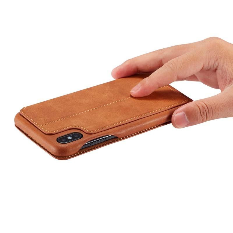 HTB1UyvaX5LrK1Rjy1zdq6ynnpXaW Original Flip Wallet Leather Business Retro Book Design Magnetic For iphone XS Max XR XS X 6 6S 6Plus 7 8 7Plus 8Plus  JS0715