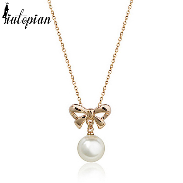 Iutopian brand hot sale elegant bow pendant necklace brinco fashion iutopian brand hot sale elegant bow pendant necklace brinco fashion gift for birthday anti allergy aloadofball Images