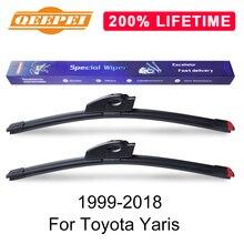 QEEPEI Замена стеклоочистителя для Toyota Yaris 1999- силиконовые резиновые Дворники для лобового стекла авто аксессуары